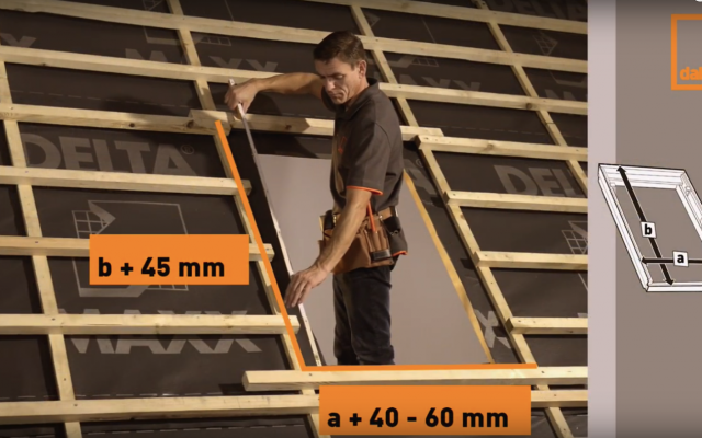 Video of DAKEA KUF roof window installation