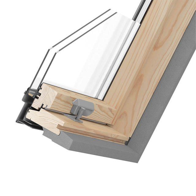 Optima Pine cross-section of window