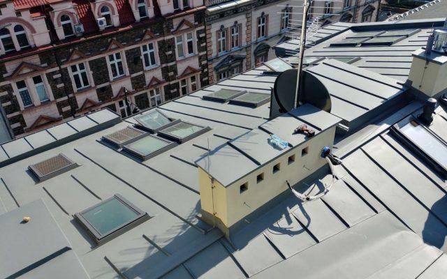 Wyremontowany dach widziany z góry