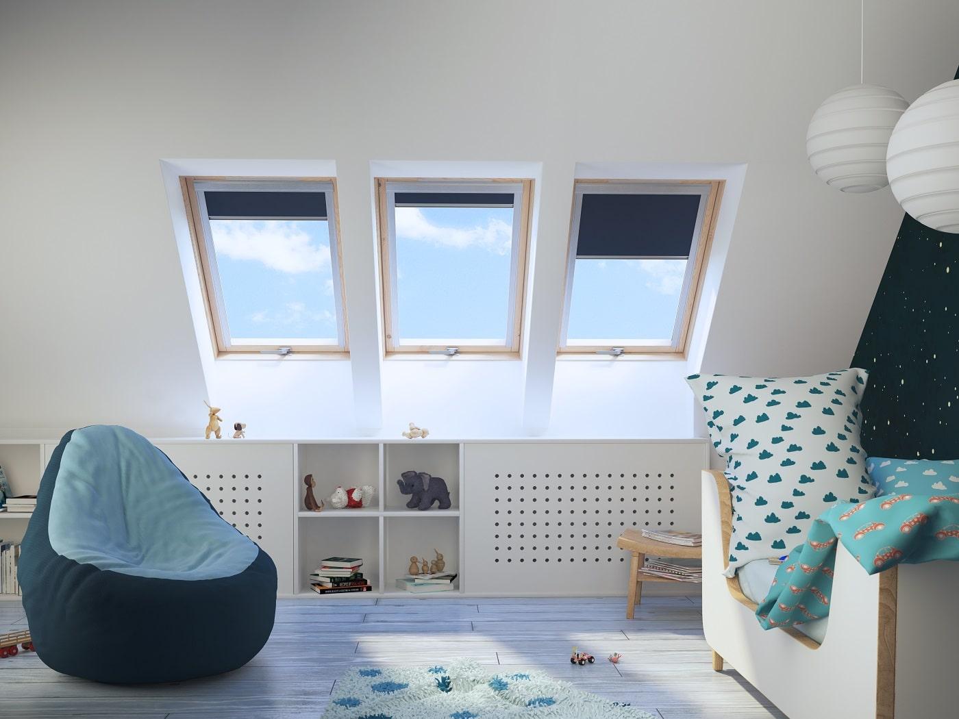 energooszczędne okna dachowe do pokoju dla dziecka